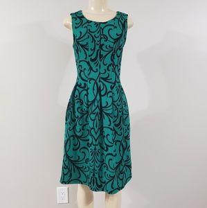 Enfocus Studio | Green and navy blue dress sz 4